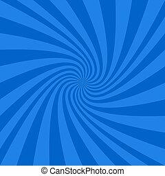 Blauer, abstrakter, spiralförmiger Hintergrund.