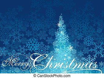 Blauer, abstrakter Weihnachtsbaum.