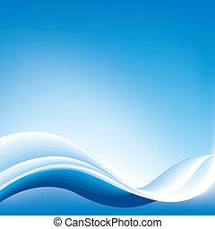 Blauer abstrakter Wellen Hintergrund