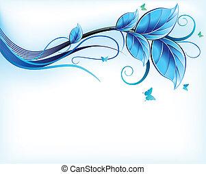 Blauer Blumen Hintergrund. Vector