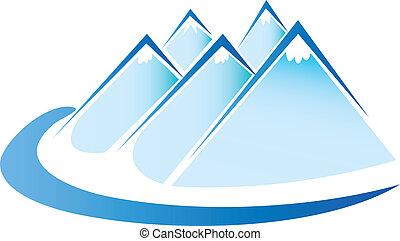 Blauer Eisberg-Logovektor