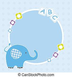 Blauer Elefantenrahmen
