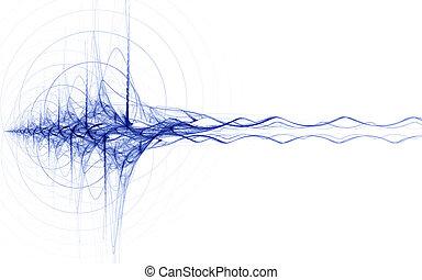 Blauer Energieimpuls.