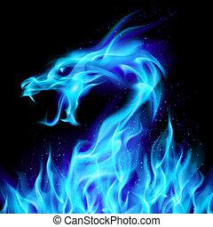 Blauer Feuerdrache