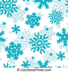 Blauer Frost Schneeflakes nahtloses Muster.