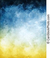 Blauer, gelber, abstrakter Hintergrund
