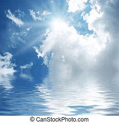 Blauer Himmel mit Wasser