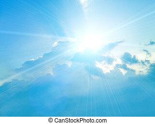Blauer Himmel mit weißen Wolken im Hintergrund