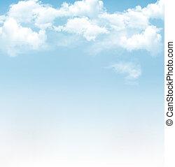 Blauer Himmel mit Wolken. Vector Hintergrund