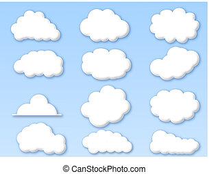 blauer himmel, wolkenhimmel, bewölkt