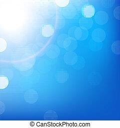 Blauer Hintergrund mit Bokeh.