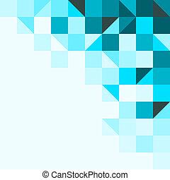 Blauer Hintergrund mit Dreiecken und