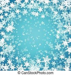 Blauer Hintergrund mit Schneeflocken. Vector Illustration