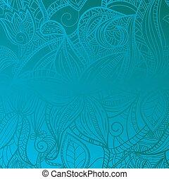 blauer hintergrund, seamless, blumen-, weinlese
