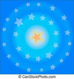 Blauer Hintergrund - Vektorgrafik.