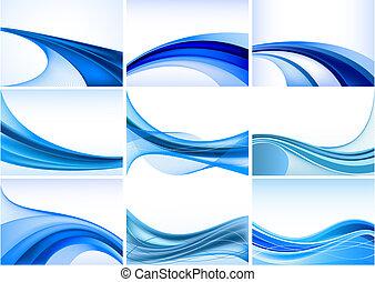 Blauer Hintergrundvektor ausgefallen