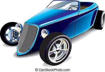Blauer Hot Rod