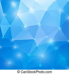 Blauer polygonaler Hintergrund. Vektor EPS10.