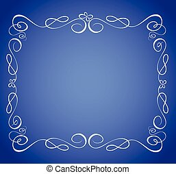 Blauer Rahmen.