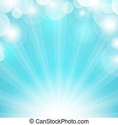 Blauer Sonnenstrahl.