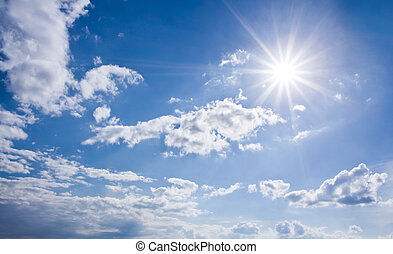 Blauer, sonniger Himmel
