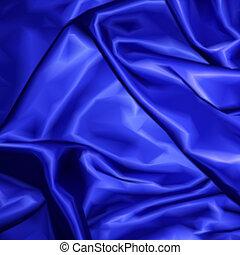 blauer stoff, beschaffenheit, hintergrund., vektor, satin