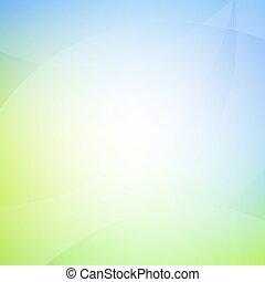 Blauer und grüner Hintergrund mit Linie.