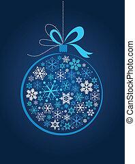 Blauer Weihnachtsball