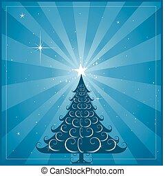 Blauer Weihnachtsbaum Hintergrund