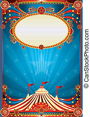 Blauer Zirkus Hintergrund