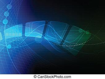 Blaues, abstraktes Hintergrundbild