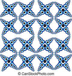 Blaues Amulett, Vektorart