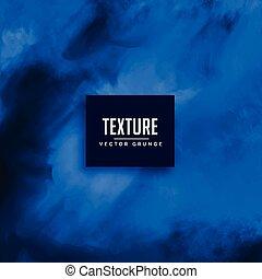 blaues, aquarell, vektor, beschaffenheit, hintergrund