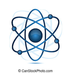 Blaues Atom.