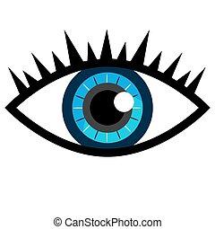 Blaues Auge.