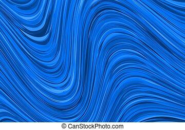 Blaues Banner mit Wellen