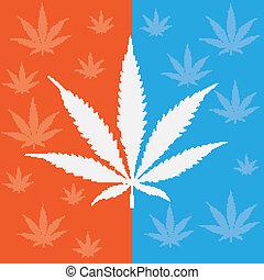 blaues, cannabis, orange