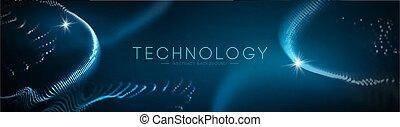 blaues, concept., vector., technologie, abstrakt, abbildung, wissenschaft, geometrisch, technologie, hintergrund, design., geschaeftswelt, zukunftsidee, vernetzung