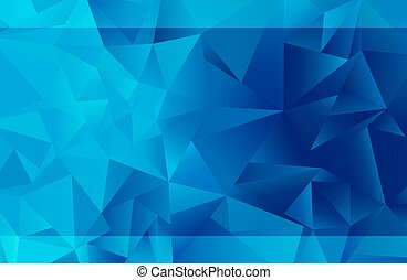 Blaues Dreieck.
