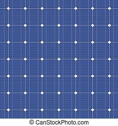 blaues, elektrisch, pattern., seamless, vektor, solarmodul