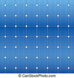 blaues, elektrisch, pattern., vektor, solarmodul