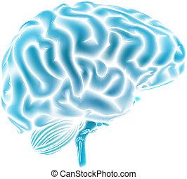 Blaues Gehirnkonzept