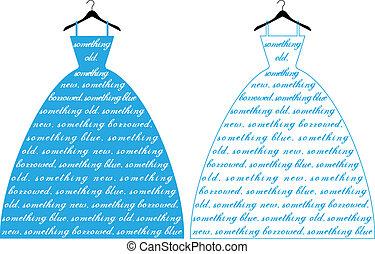 Blaues Hochzeitskleid, Vektor