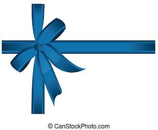 Blaues Kreuzband und Bogen