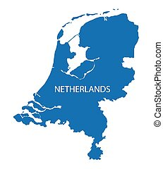 blaues, landkarte, niederlande