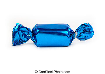 blaues, ledig, freigestellt, zuckerl