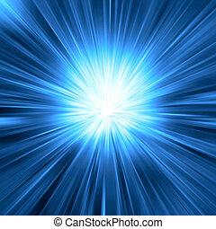 Blaues Licht ist geplatzt