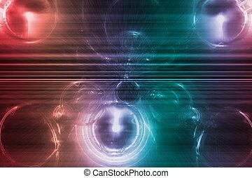 Blaues lila Geschäftssystem abstrakter Hintergrund