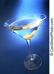 blaues, martini