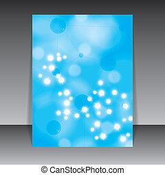 blaues, molekül, hintergrund